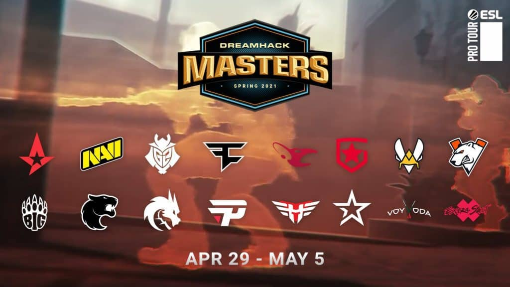 DreamHack Masters Spring 2021 Announcement of global teams